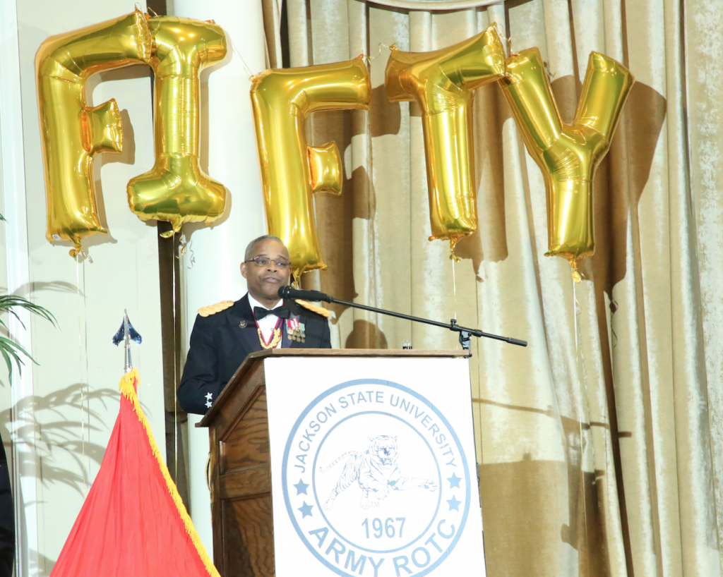"Maj. Gen. (Ret.) Reuben D. Jones was the keynote speaker for the gala. He said, ""Each year we set aside this season to celebrate and pay tribute for your devotion, patriotism, selfless service and sacrifice as you prepare for a bright future."""