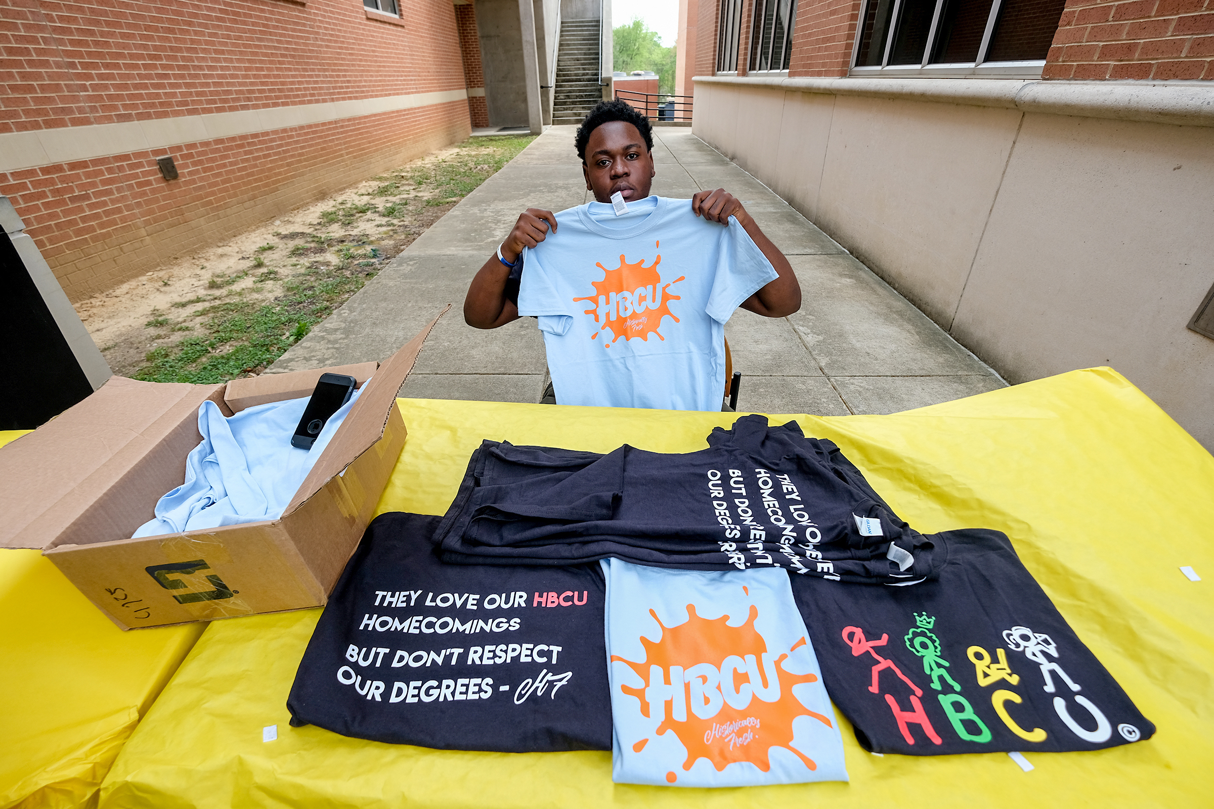 Historically Fresh, the student-founded clothing label whose goal is to spotlight HBCUs and HBCU culture, was on display at the event.