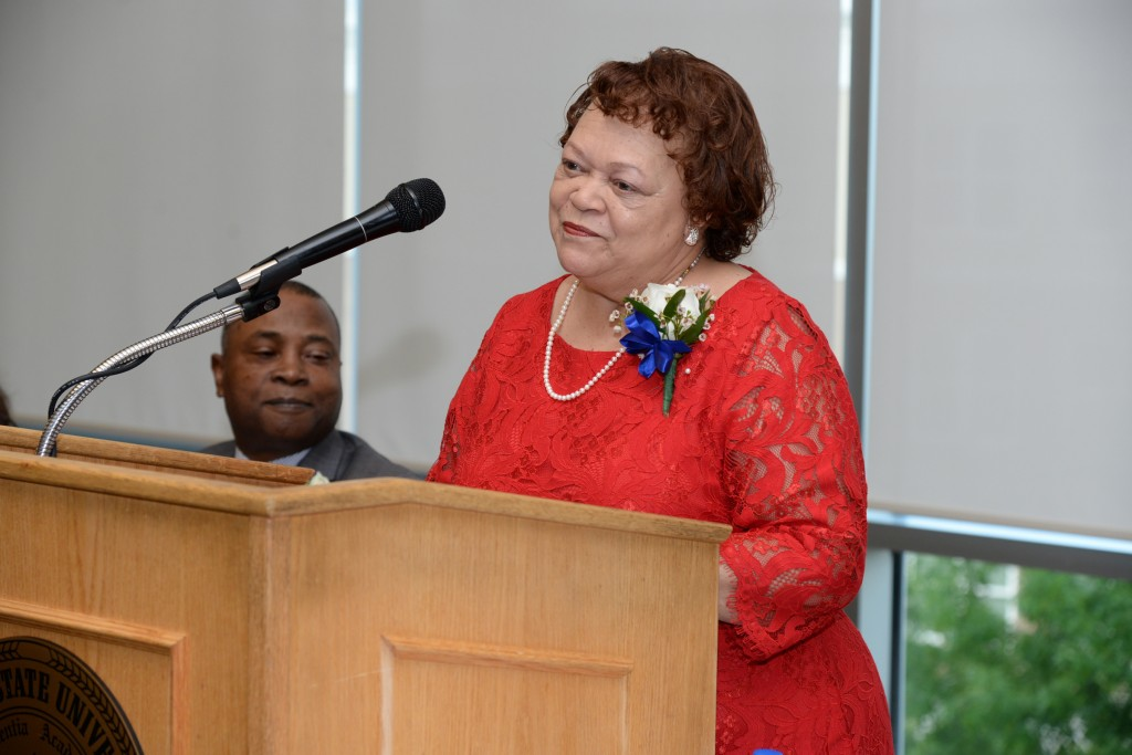 Dr. Mary White, keynote speaker, has contributed in vast ways to the field of higher education. She has been recognized for creating the BBA degree in Entrepreneurship, the first of its kind in Mississippi and among HBCUs. (Photo by Charles A. Smith)
