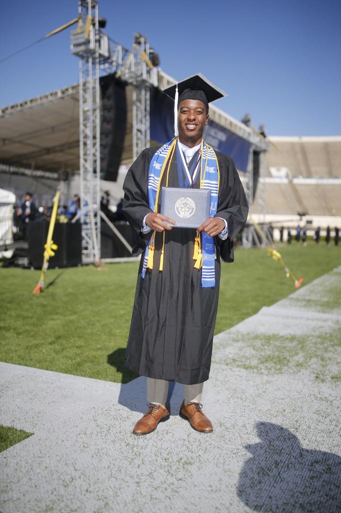 Cameron Lemon said networking was the best part of his JSU experience, but finding a balance between work and play is a must. (Photo by Charles A. Smith/JSU)