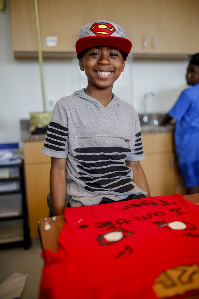 "David Eubanks, a Smilow Prep student, says his mom chose to send him to JSU's Kids Kollege because it is ""educational and fun."" (Photo by Charles A. Smith/JSU)"