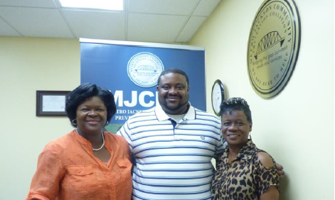 The JSU Metro Jackson Community Prevention Coalition is comprised of Dr. Melinda Todd, director and principal investigator (left); Henry Thompson, senior prevention specialist; and Terry Bennett, prevention specialist (far right). (Photo special to JSU)
