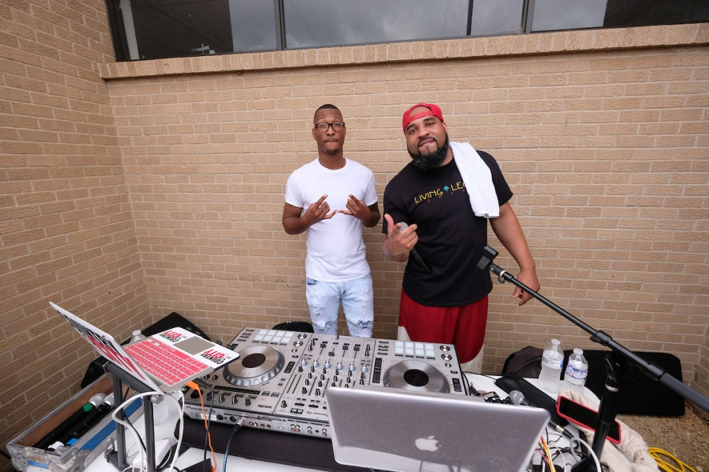 For several hours, DJs went nonstop with popular sounds that kept student volunteers and visitors entertained. (Photo by Charles A. Smith/JSU)