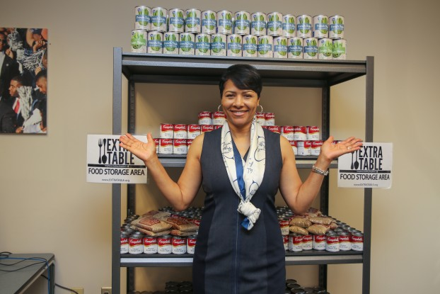 Deborah Bynum, first lady of Jackson State University, has been diligently working, along with campus and community partners, to open a food pantry for students in need. (Photo by Aron Smith/University Communications)