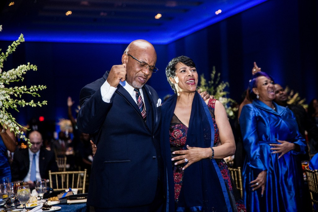 President Bynum and first lady Deborah display their spiritual reverence for every blessing impacting JSU as well as their lives. (Photo by Charles A. Smith/JSU)