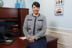 "First Lady Deborah Bynum explains the purpose of her initiative, ""The Tiger Career Closet provides a service at no cost to our deserving students who are in need of professional attire for job interviews, business meetings, career fairs and JSU events."""