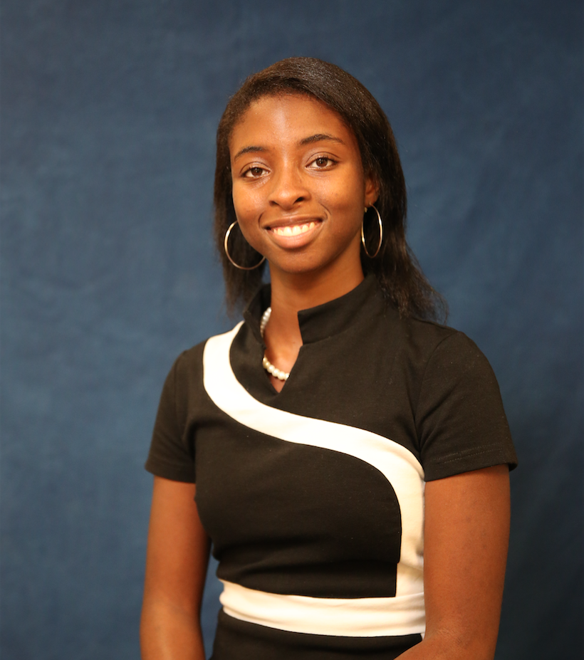 """K'shatriya """"Shay"""" Humphrey, a senior mass communications major, says she screamed upon learning that she had been accepted into the Disney College Program in Orlando. (Photo by: Spencer McClenty/JSU University Communications)"""