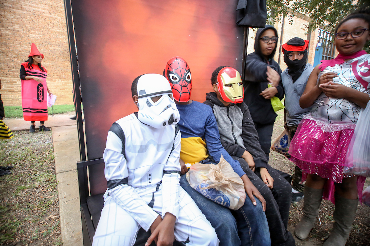 A number of heroes and action figures populated the campus. (Photo by Aron Smith/JSU)