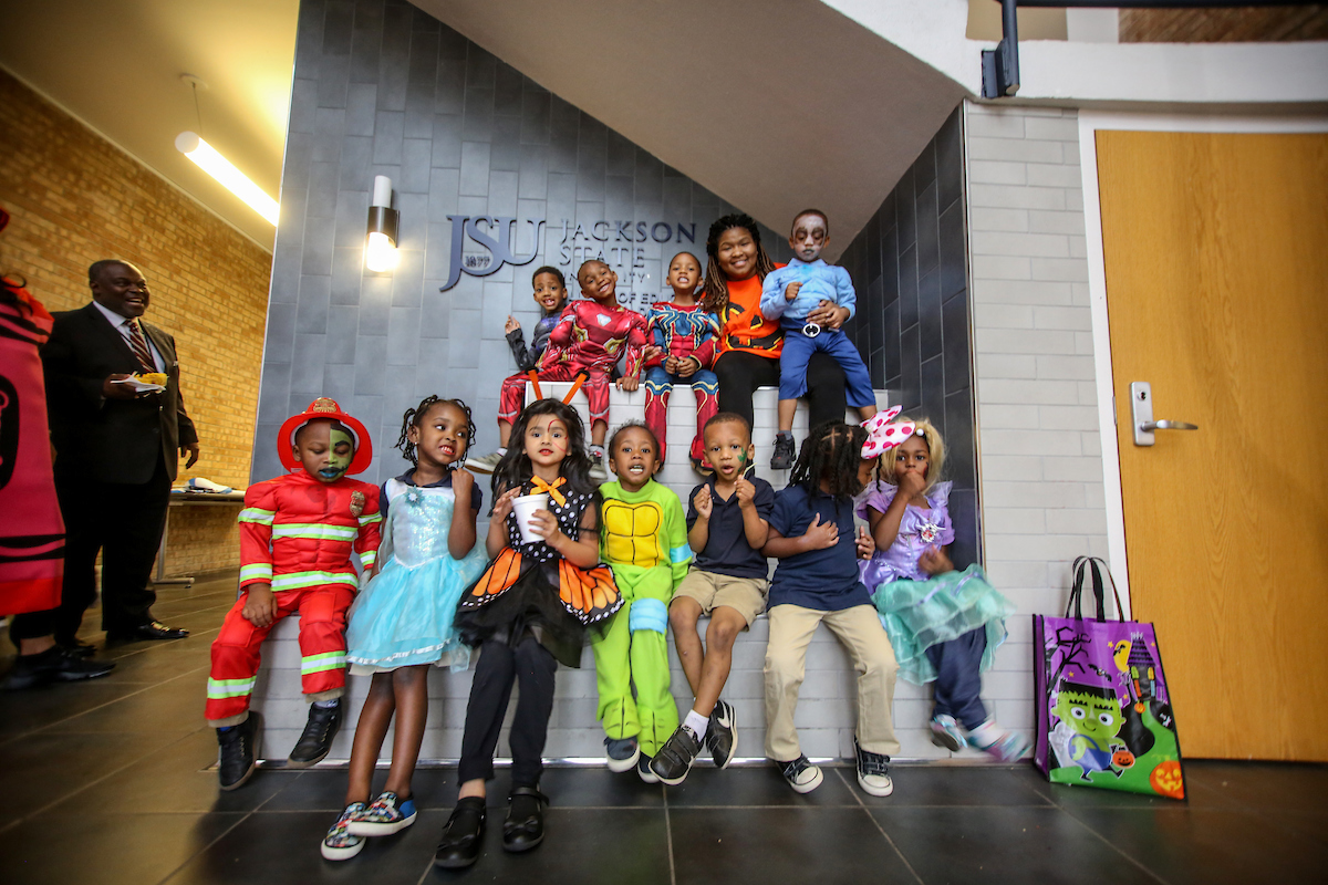 A number of kids don their favorite costumes. (Photo by Aron Smith/JSU)