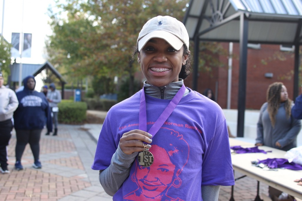 "Women's winner Edwards Trivia Edwards, a 20-year JSU junior finance major from Jackson (25:37.2) was stunned by her performance because ""I haven't run in over a year."""