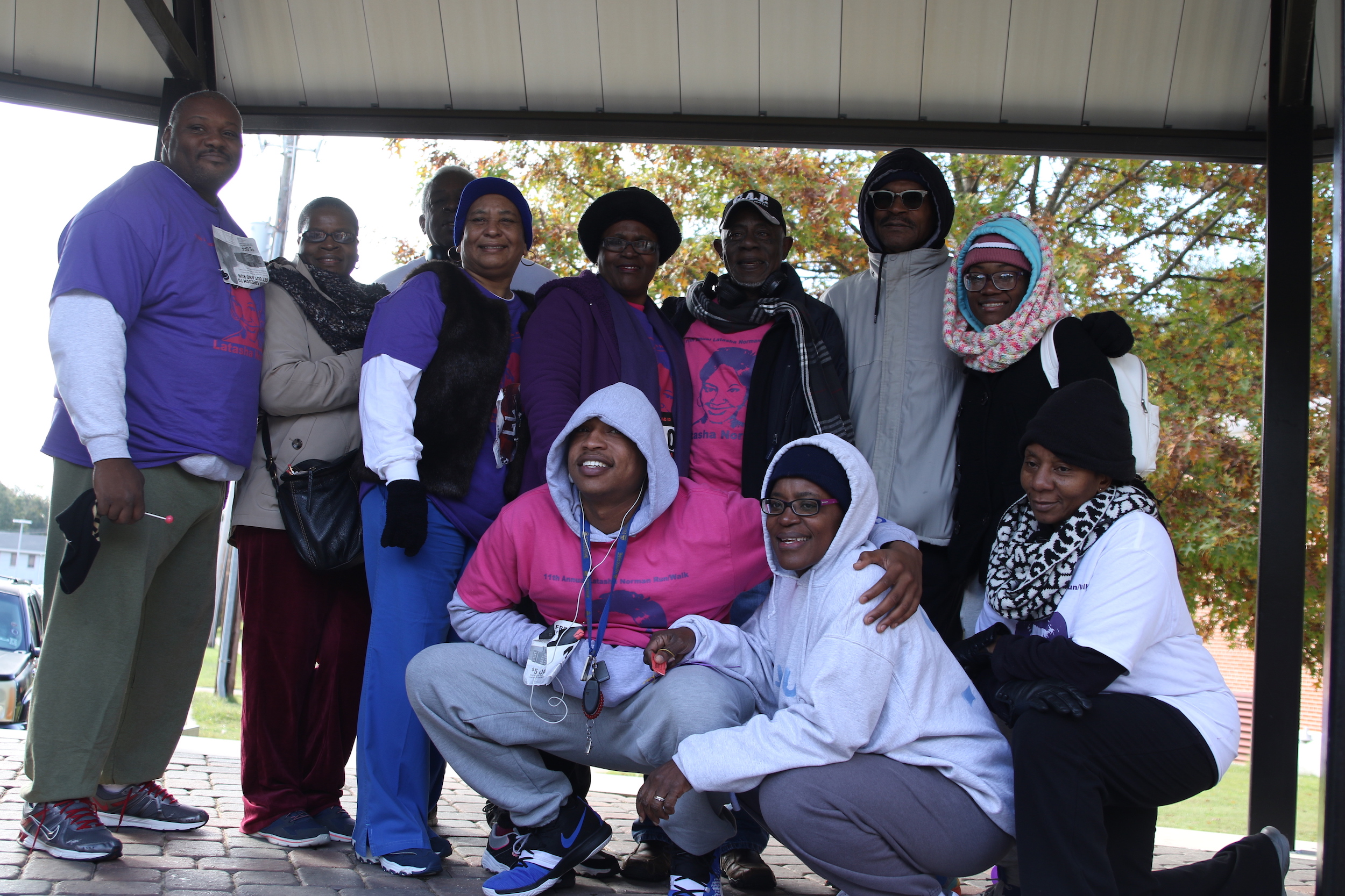 "Latasha Norman's family expressed its gratitude to JSU, the community and others who traveled great distances to participate in the event. The family said, ""This is the 11th year of the Latasha Norman Walk. We're so appreciative that JSU has held up to its word. They continue to do what they promised."" (Photo by Aron Smith/JSU)"