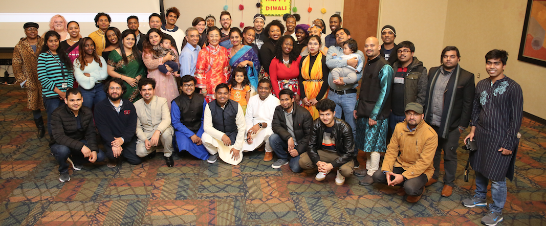 Participants were present from 7 countries at the inaugural celebration of Diwali.