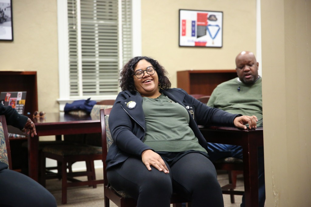 Aimee Castenell of Atlanta is the Southeast Region communications director for Working Families. The organization tackles community and political issues. Its supporters were in town recently to support Mike Espy's campaign for the U.S. Senate. She said she realized an Espy win was going to be an uphill battle. Despite his loss to Cindy Hyde-Smith, Castenell said it would not negatively color her impression of Mississippi. (Photo by Kentrice S. Rush/JSU)