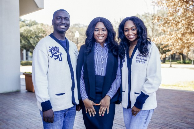 Pre-Alumni Council executive board members pictured from (L to R) Cadaris Waits, president; Courtney Jones, vice-president; and Allyson Brooks, Miss Pre-Alumni Council 2018-19.