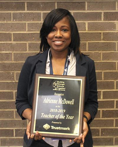 Adrienne McDowell holds a master's degree in teaching from JSU. McDowell was recently named 2019 JPS Teacher of the Year.