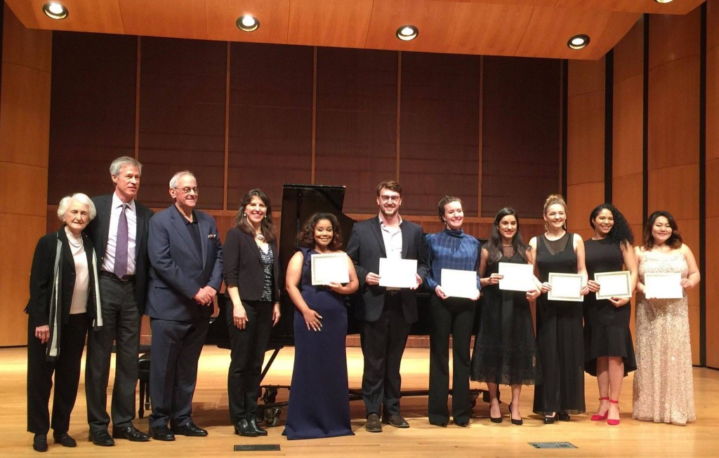 Hilary Watkins, (fourth from left), graduating senior, was one of four competitors to receive an encouragement award after competing in the Metropolitan Opera National Council District Auditions held at the University of Memphis. (Photo special to JSU)