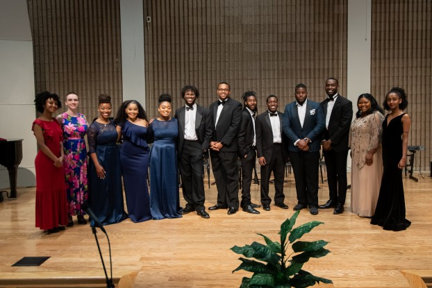 """Students, alumni and guest artists hailing from New York, Indiana and Jackson put on the OperaPLUS Reunion-Benefit Concert on Sunday, April 14, 2019.  """"The evening was truly amazing,"""" said Dr. Phyllis Lewis-Hale, assistant professor of ethnomusicology and director of opera and musical theater in the Department of Music at Jackson State."""