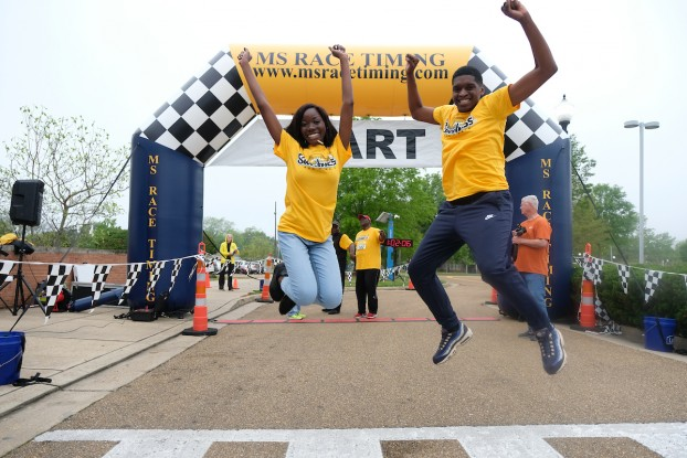 JSU students show their excitement for the annual run/walk event. (Photo by Aron Smith/JSU)