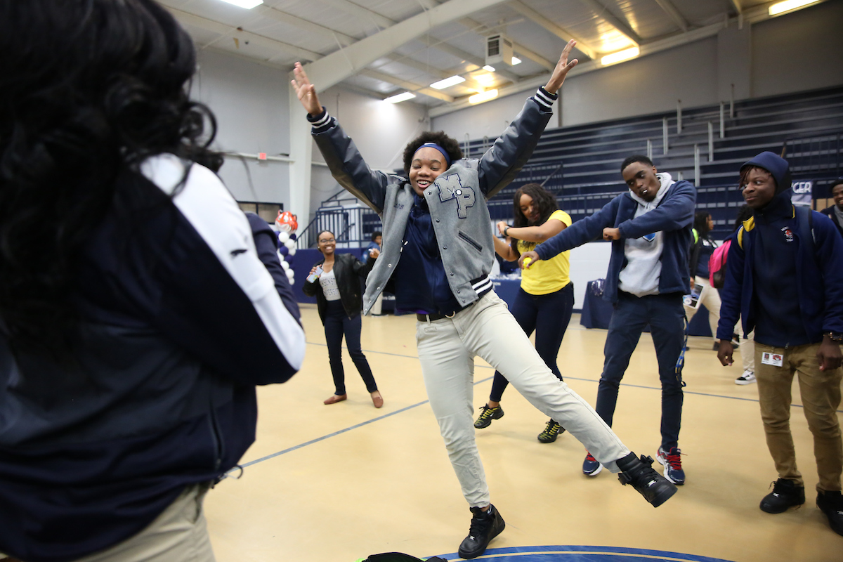 A Moss Point crowd shows its spirit. (Photo by Kentrice S. Rush/JSU)