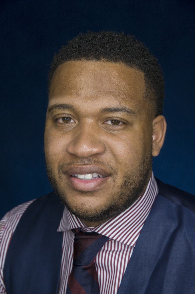 Tommie Mabry, author and motivational speaker, is working on his doctoral degree at JSU. Mabry is the first of his family to graduate from highschool and college. (Photo by Charles A. Smith/JSU)