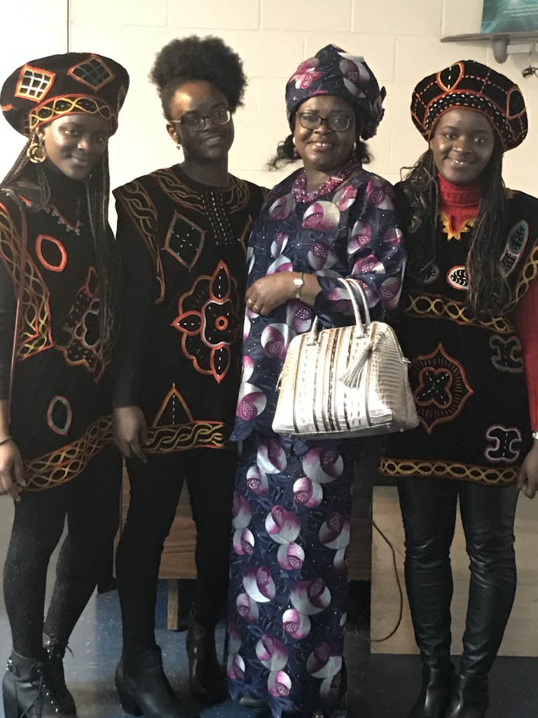 Landrie Tchakoua, computer engineering major, was among those recently inducted into PKP. Her mother and twin sisters were previously inducted. Left to right: Astride Tchakoua, Landrie Tchakoua (second from Left), Clauditte Tchakoua and Ingrid Tchakoua. (Photo special to JSU)