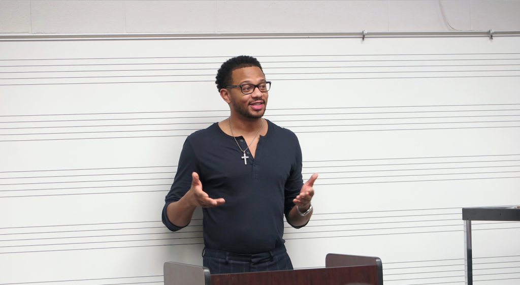 Jeffrey Graves, son of federal Judge James E. Graves, said he always wanted to be a music artist and producer. However, he recognized that as an attorney and musician he would be better equipped to help artist not be taken advantage of in the entertainment industry. (Photo by Rachel James-Terry)