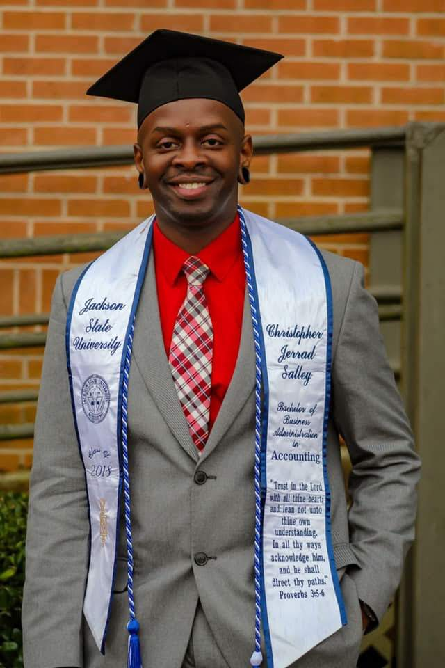 After an extensive journey, Salley earned his bachelor's degree in December 2018.