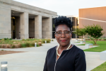 Pamela Junior, who graduated from JSU with a bachelor's degree in education, was recently named director of the Two Mississippi Museums, which include the Museum of Mississippi History and Mississippi Civil Rights Museum.  (Photo by Joshua Watson)