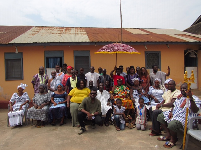 JSU students met with Ghanaians in a local village where the chief granted them permission to witness a  traditional naming ceremony for a newborn girl. (Photo special to JSU)