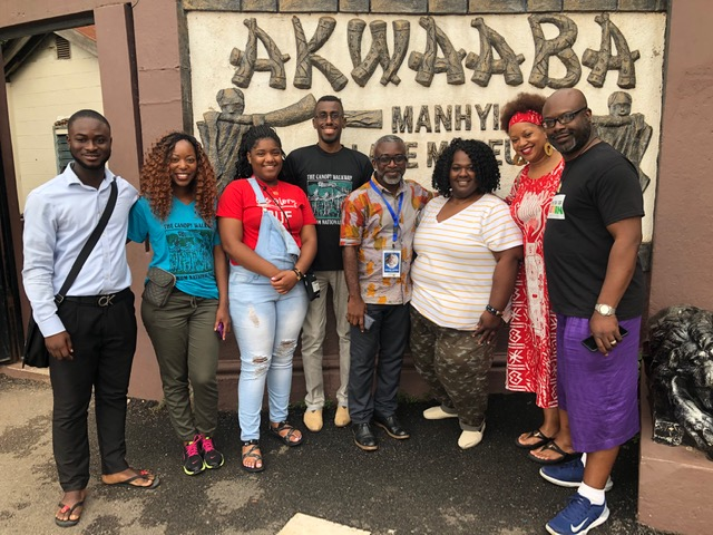 Jackson State University students and Dr. Byron D'Andra Orey arrive in Accra, the capital city of Ghana in West Africa, for a 10-day study-abroad experience that took them on an emotional pilgrimage. (Photo special to JSU)