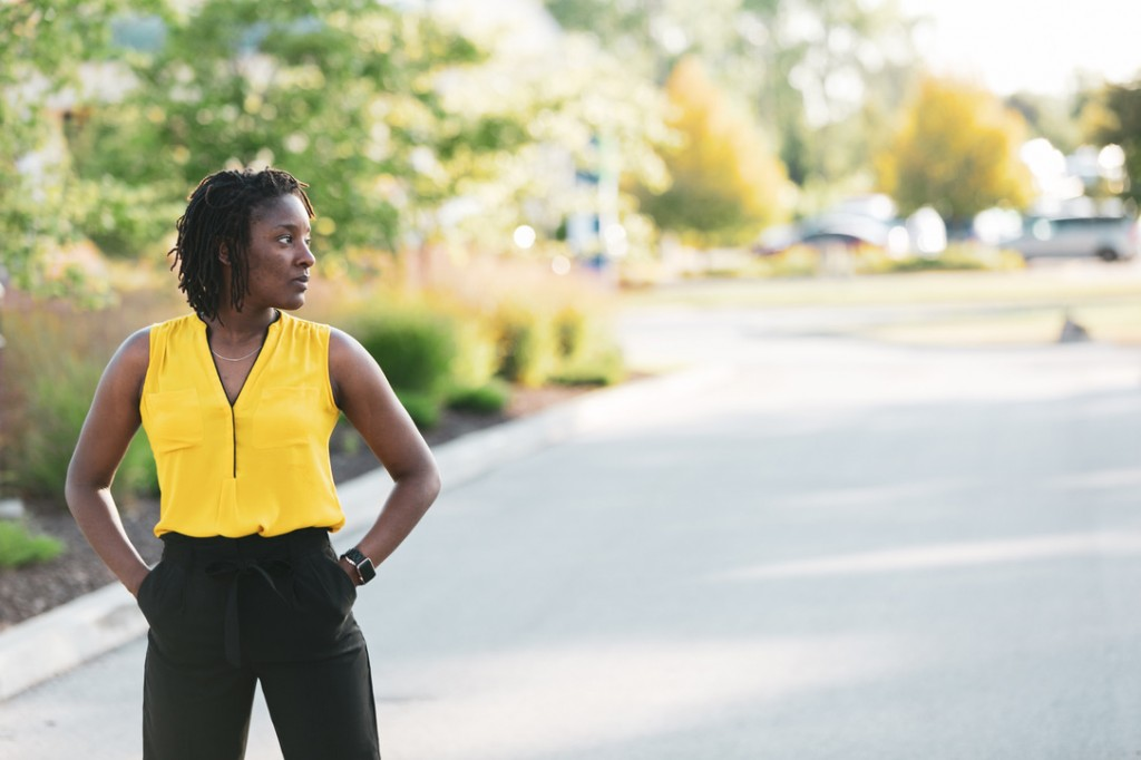 It took her awhile, but Johnson successfully adapted to the culture of Purdue and the Midwest by relying on her megawatt personality. Photo by Dr. Oyindamola Oluwatimi/Special to JSU University Communications