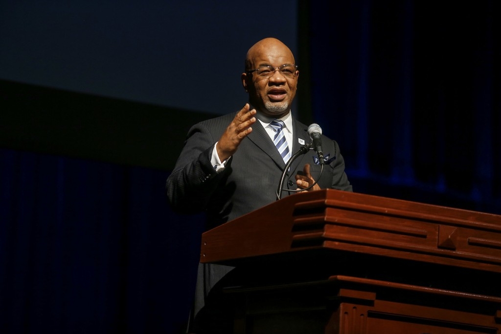 "JSU President William B. Bynum Jr. will help guide the urban HBCU toward its expected reaffirmation. Campus leaders will immerse themselves in a nine-month self-study called ""compliance certification."" A vote from the full SACSCOC board is slated for December 2021. (Photo by Charles A. Smith/JSU)"