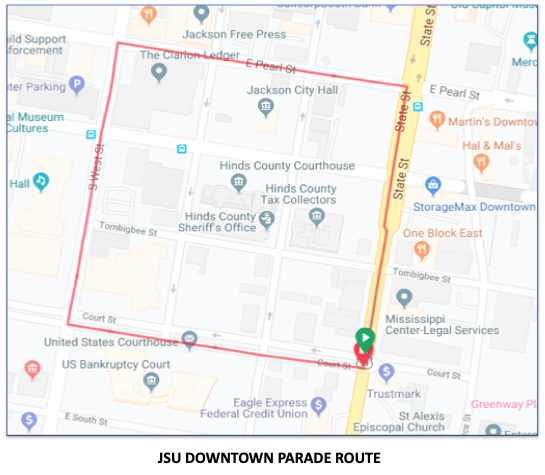 JSU DOWNTOWN PARADE ROUTE