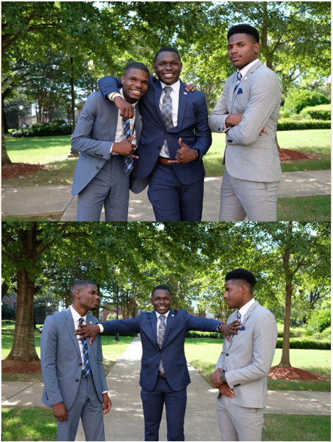 Siblings Jaquan Powell (left), LaCurtis Powell (center), and David White (right) share their love for leadership and JSU (Photos by Charles A. Smith/JSU)