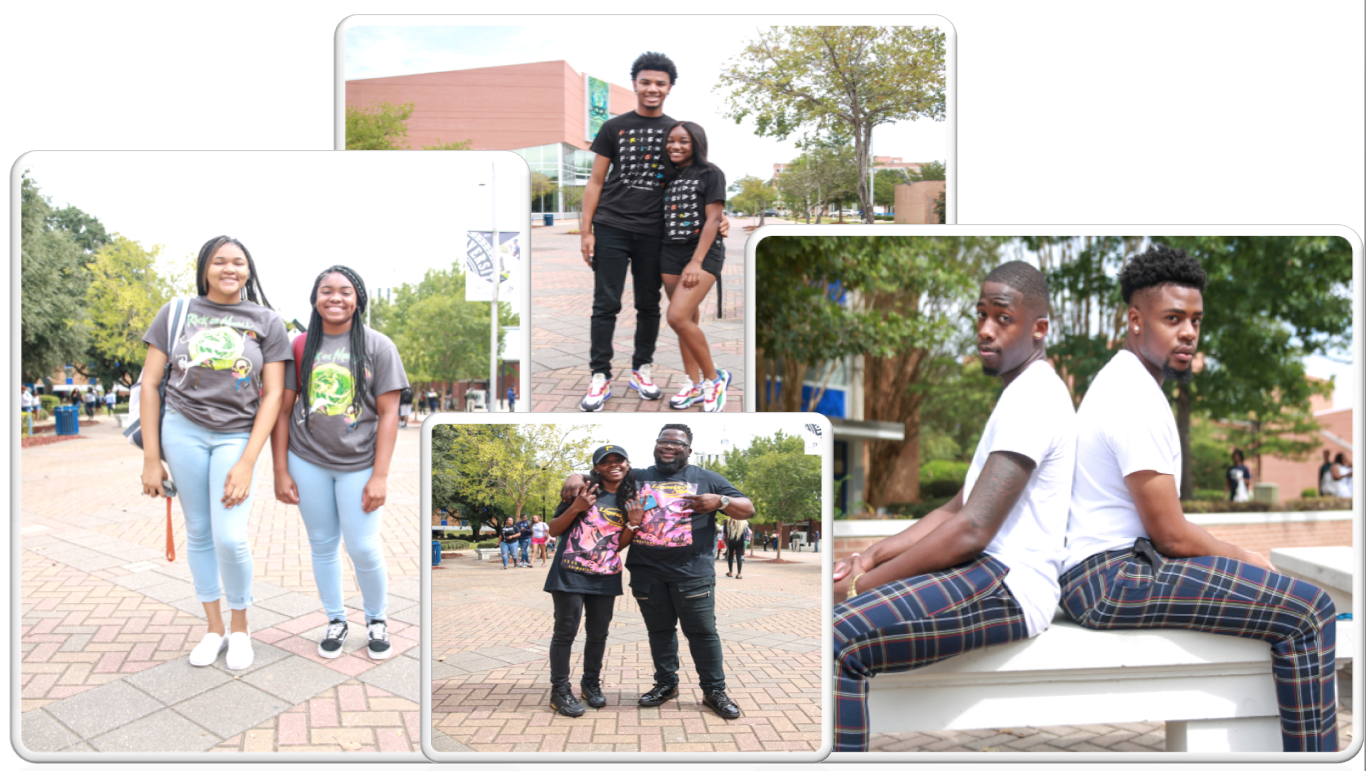 """During the day, some students even matched their attire for """"Twin Day."""" (Photo by Aron Smith/JSU)"""