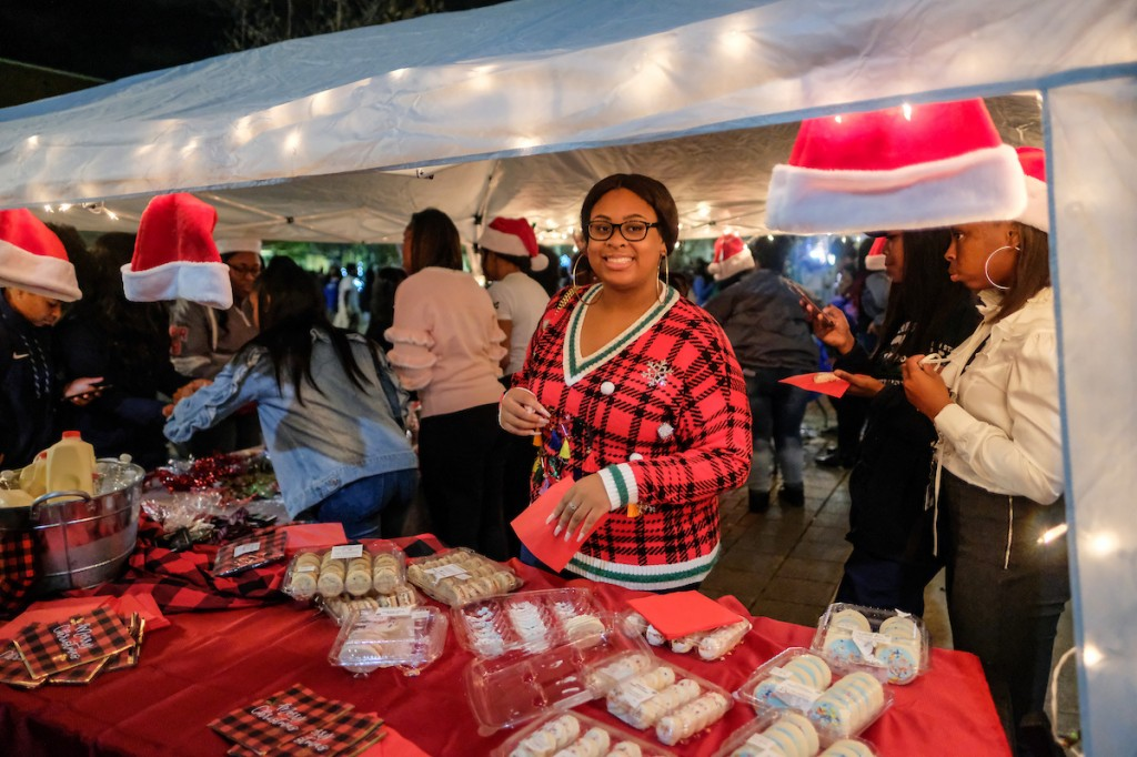 Sweet treats were aplenty for holiday revelers. (Photo by Charles A. Smith/JSU)