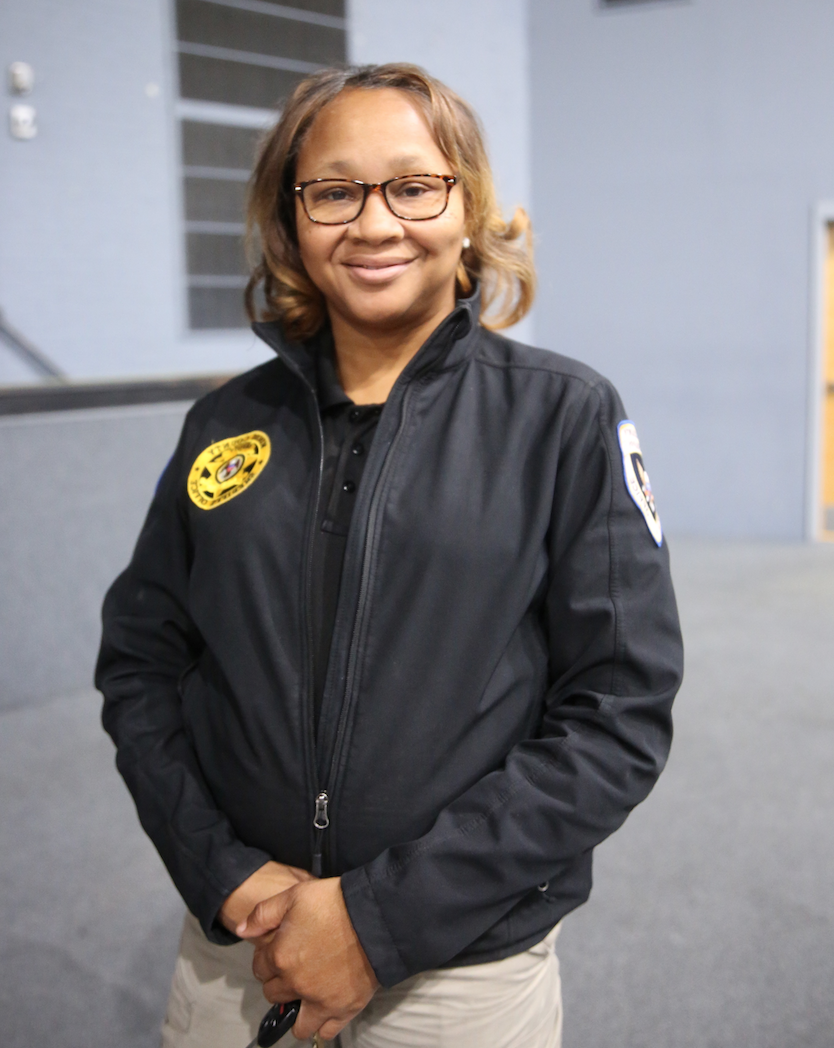 "Helen Brown is the human trafficking coordinator in the Investigation Division of the Hinds County Sheriff Department. She's also part of a statewide task force, dealing mostly with sex trafficking. Brown said there's a misconception about pimps. ""People think they are older men and women. Instead, they are likely the same age as student victims. You have to be careful who you call your friends because nine times out of 10 they're recruiting you."" (Photo by L.A. Warren/JSU)"