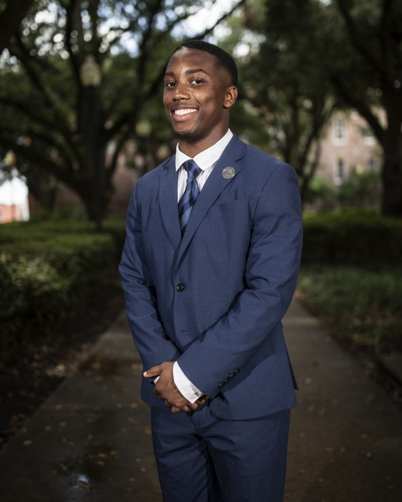 Jordan Jefferson, SGA president at Jackson State University, has been selected as finalist for a Rhodes Scholarship. If chosen, Jefferson will be JSU's first Rhodes Scholar. (Photo by Charles A. Smith/JSU)
