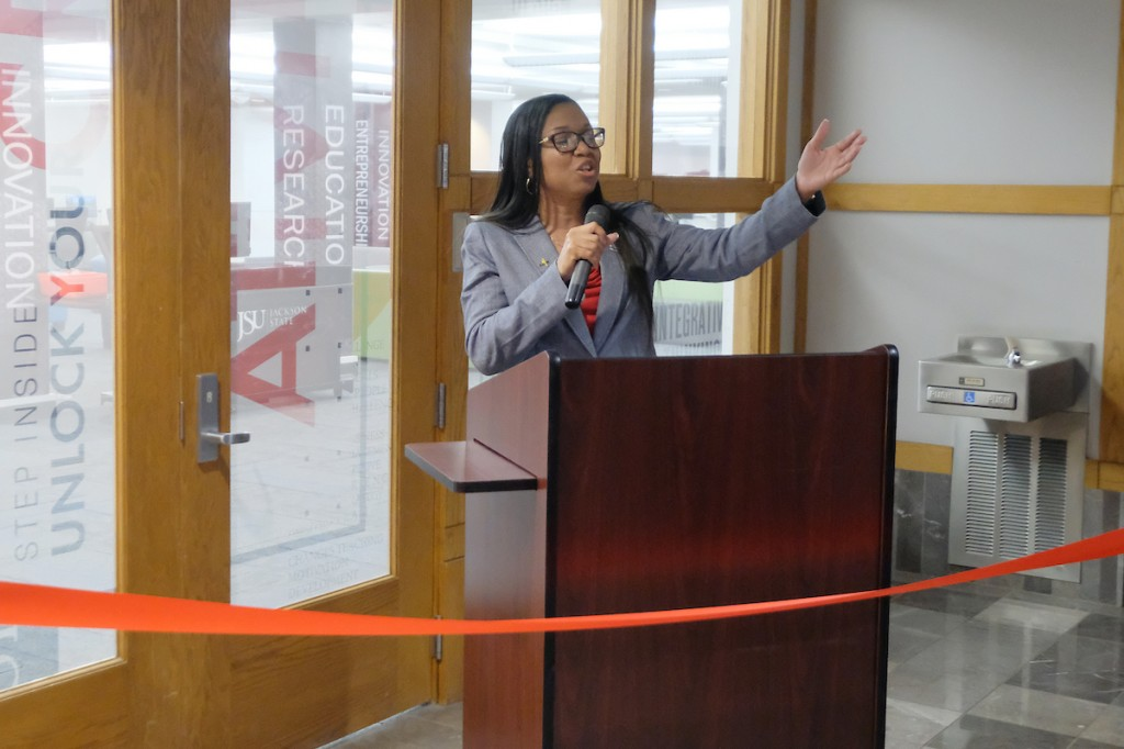 Dr. Almesha L. Campbell helped to spearhead the development of the center. She's the director of JSU's Technology Transfer, Commercialization and Research Communications in the Office of Research and Economic Development. (Photo by Charles A. Smith/JSU)