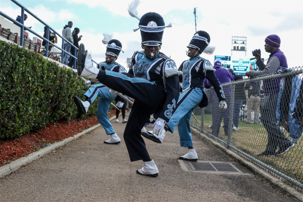 The Sonic Boom of the South is known for its high-energy performances, dynamic drum majors and the prancing JSettes. (Photo by Charles A. Smith)