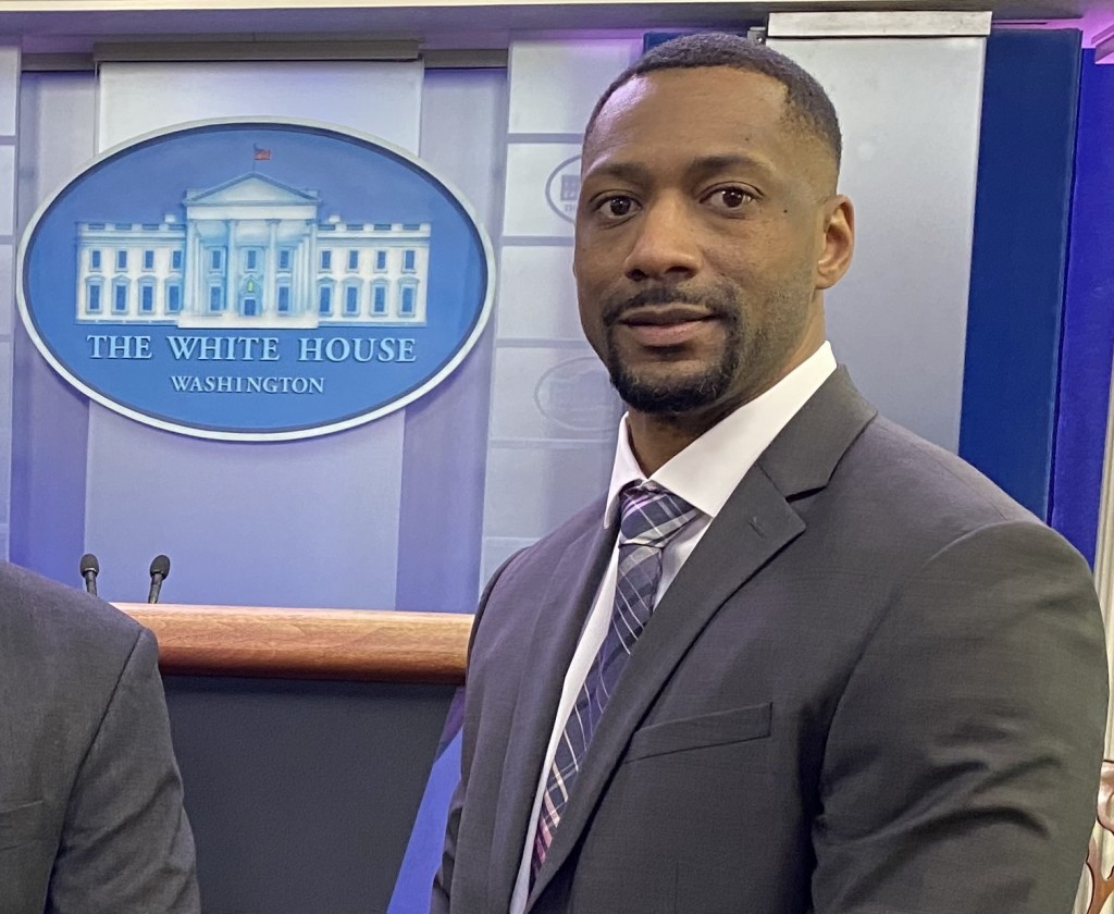 """Cameron Thomas, a native of Clinton and 2007 JSU alum, said the HBCU's engineering program resulted in many """"tough nights and long nights."""" He added, there were """"a lot of high expectations for us all because we wanted to be able to sell the program to the accreditation board."""" He has been recognized for his work to protect military service members."""