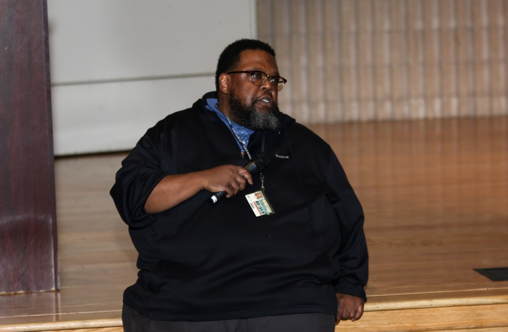 """Charles Smith, JSU photographer, shared his wisdom at a panel discussion hosted by fashion week.  """"If there is ever a time to take risks, it's in your youth because you get an opportunity to do it over again. Take those risks. The fallout may seem hard, but the level of success you can achieve after those risks can be absolutely phenomenal,"""" said Smith. (Photo by Rodney McGee)"""