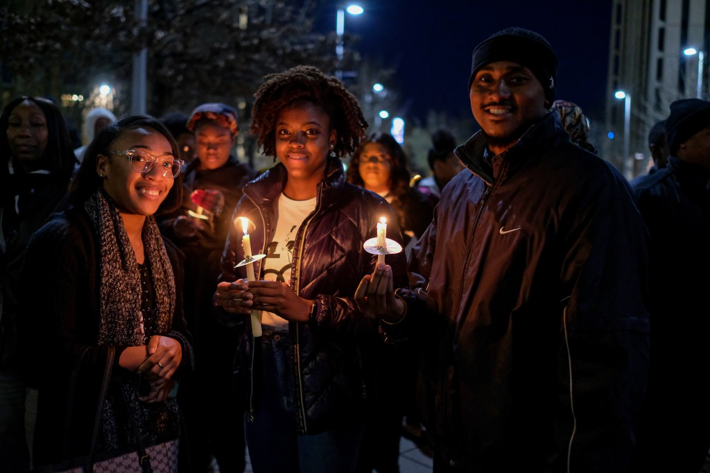 JSU students marched up the Gibbs-Green plaza in celebration of the lives of Phillip Gibbs, Jr., and James Green who were killed by police on May 15, 1970. This year marks the 50th anniversary of the shooting. (Photo by Charles A. Smith/JSU)