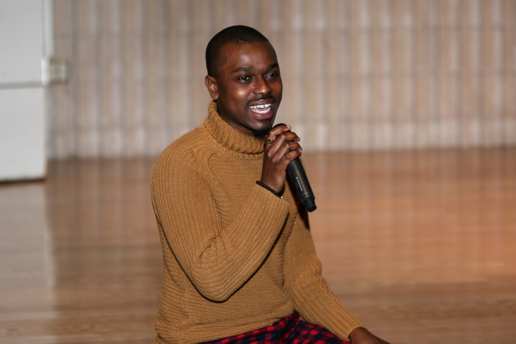 """Kenneth Marshall II, owner of K. Marsh II, a fashion-based creative firm, and K. Marsh Style House, spoke to attendees during the fashion panel. """"It's super important to invest the arts back into colleges and universities,"""" he said. """"We don't realize the arts are what helps the other academic areas thrive. It's just important. Getting people to come back and pour into the arts that's where we have to start."""