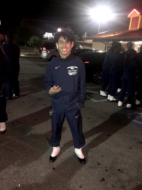 Marvin Meda, a freshmen at JSU, is also a member of the Sonic Boom ot the South Marching Band. He made history after becoming the first Hispanic member of the Boom's J5 drum major squad. (Photo special to JSU)