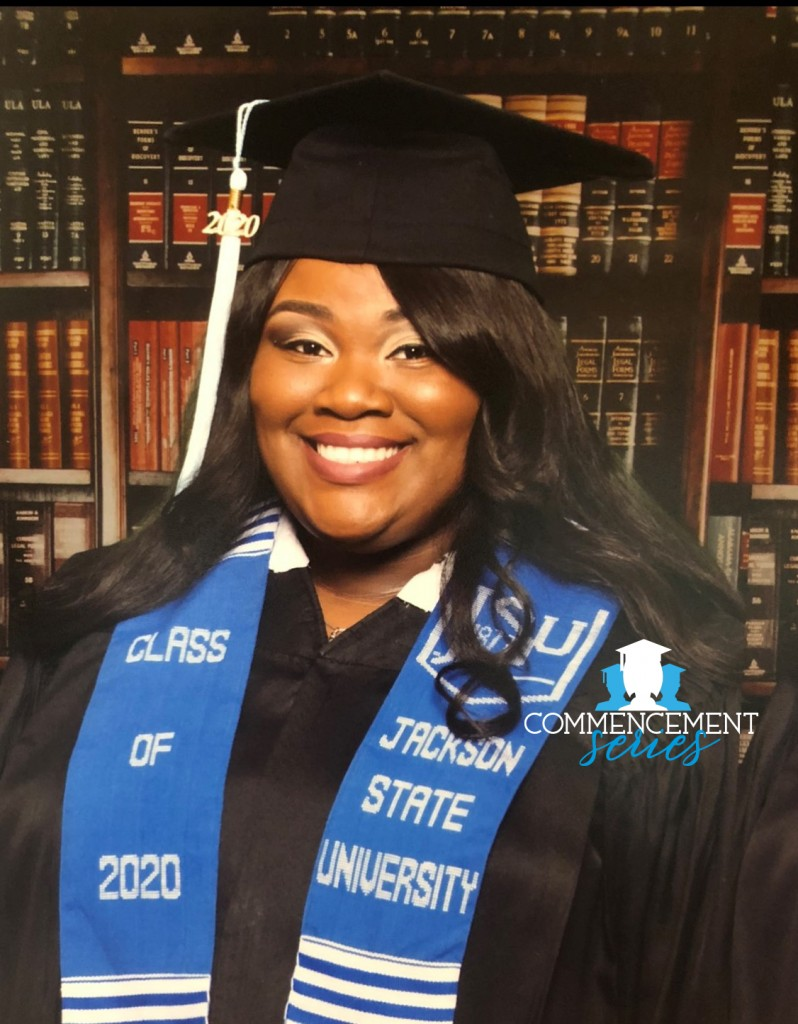 Yasmin McLaurin graduated with honors from Jackson State University this past spring. She is now headed to the University of Mississippi on a full-ride. (Photo special to JSU)