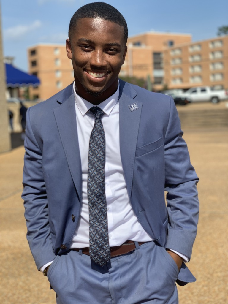 Jordan Jefferson has already made an indelible mark in academia. The JSU graduate is an aspiring city leader, who is asking for the community to rally around him as he prepares to pursue his master's degree at Harvard University this fall. (Photo special to JSU)