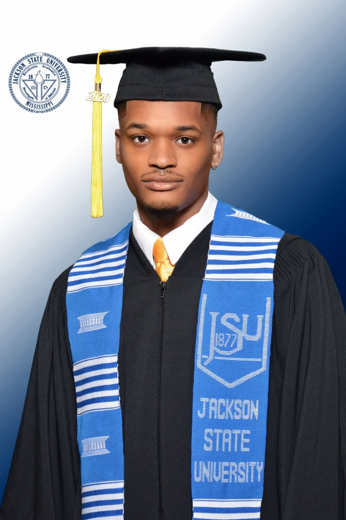 Michael Jacquari Smith, 22, is a native of Tuskegee, Alabama. At an early age, he developed a fascination with severe weather. He recently earned his bachelor's degree in meteorology from Jackson State University's Department of Chemistry, Physics and Atmospheric Sciences. Now, he's preparing for graduate school in atmospheric sciences at Howard University. (Photo special to JSU)