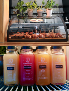 Located in the heart of downtown Jackson, Green Bean offers pour over coffee, cold pressed juices, tea and pastries.