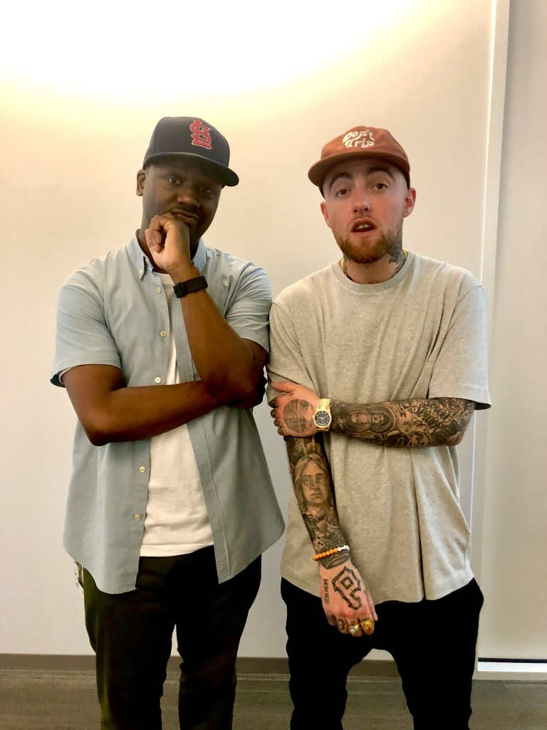 Robert Carter, producer of NPR's Tiny Desk, pictured with Mac Miller, rapper, singer and songwriter, who appears on Obama's summer playlist. Miller passed away in 2018. (Photo special to JSU)